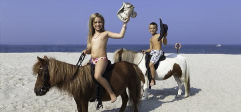 Your family on horseback in Sardinia