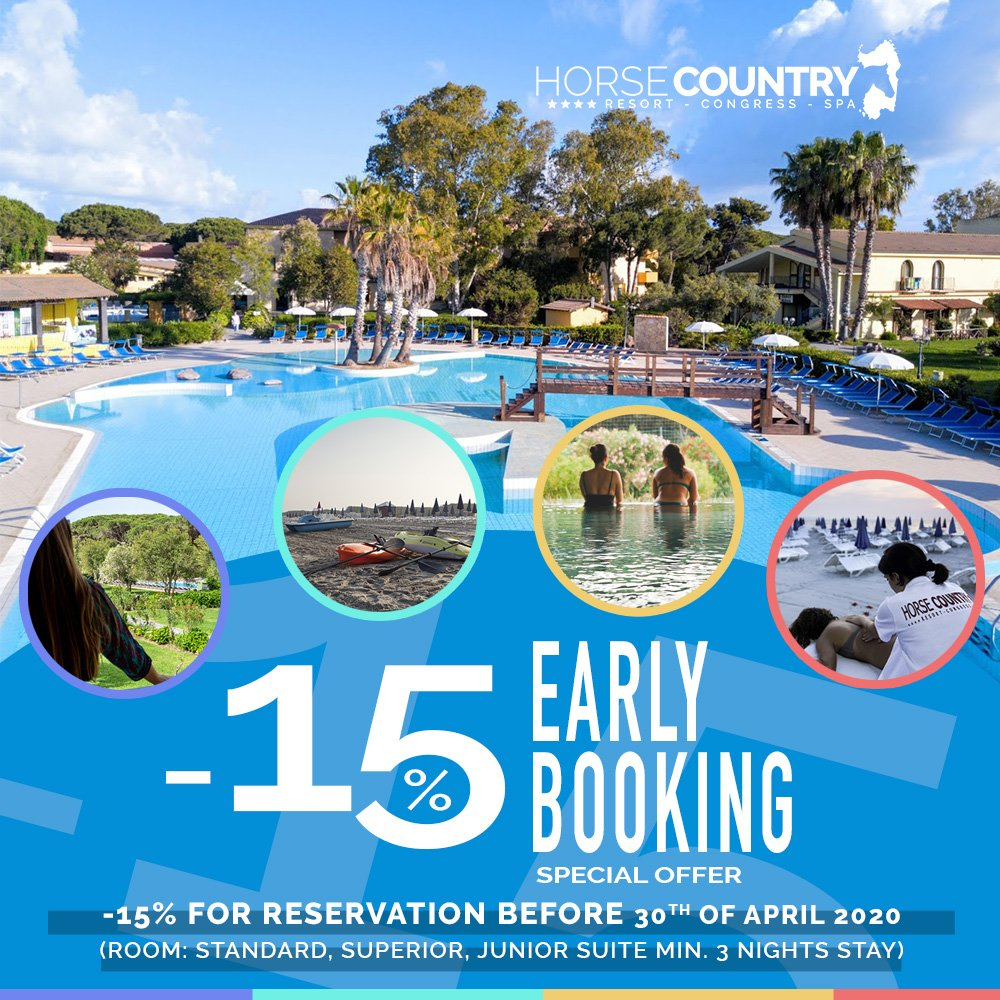 BOOK EARLY AND SAVE 15 %. FOR RESERVATION MADE BY 30TH APRIL.