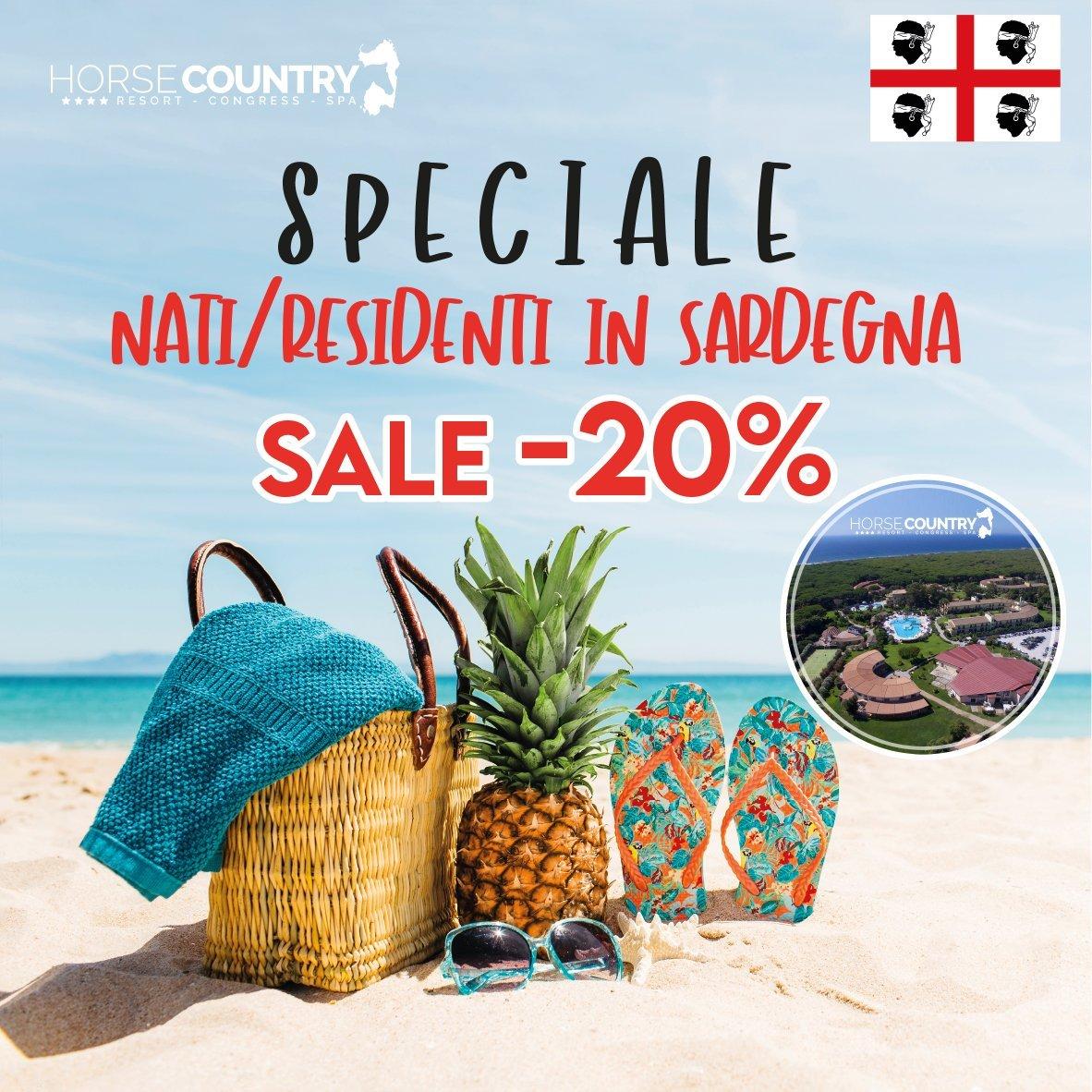 """20% DI SCONTO PER I """"RESIDENTI / NATI IN SARDEGNA"""""""