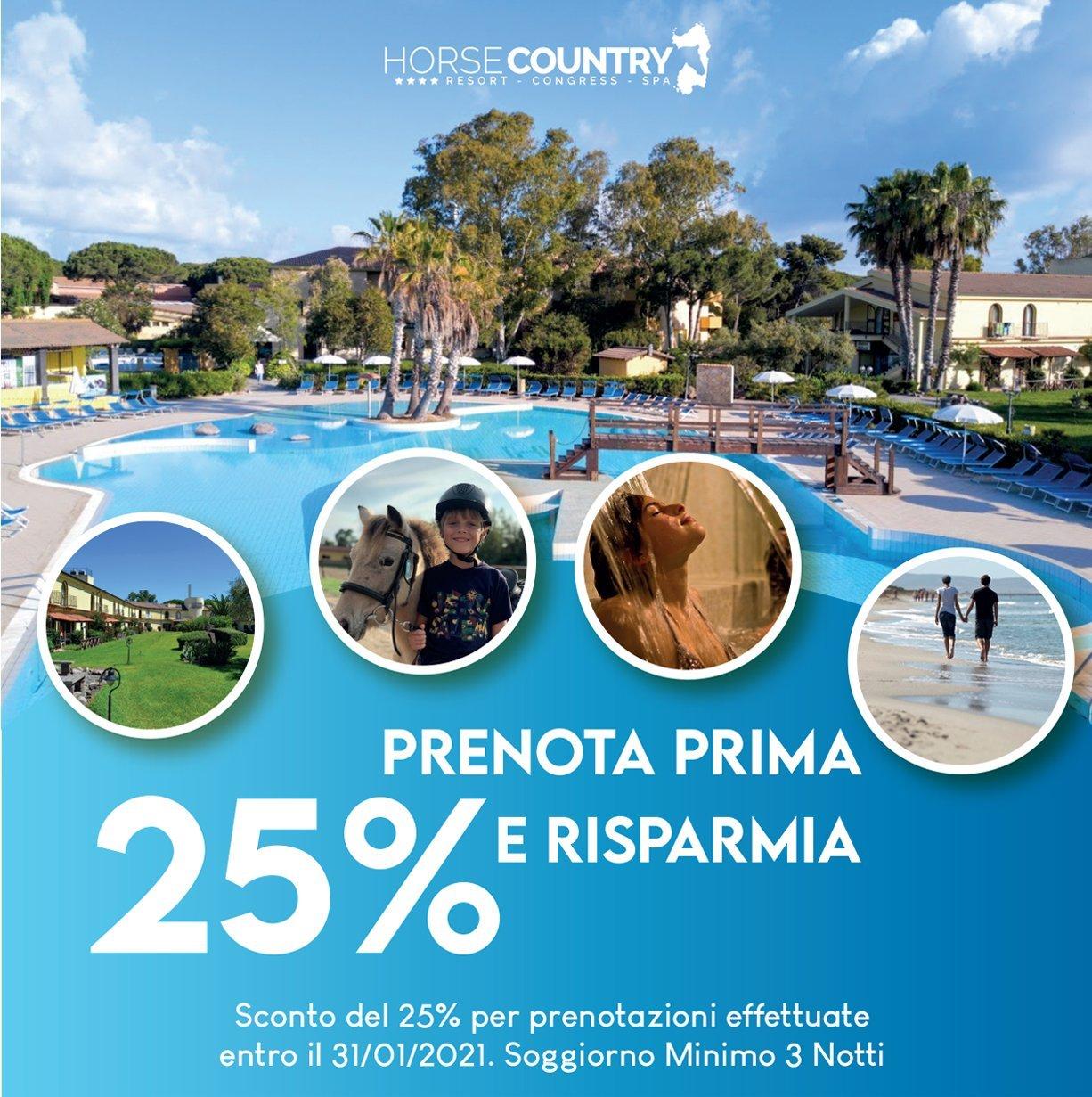 PRENOTA PRIMA E RISPARMIA IL 25%