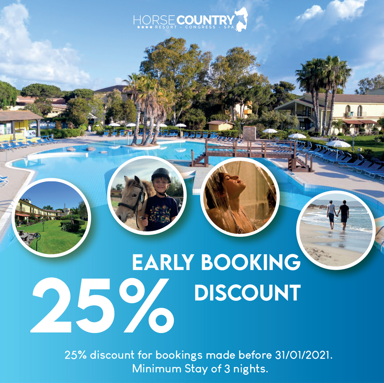 EARLY BOOKING 25% DISCOUNT
