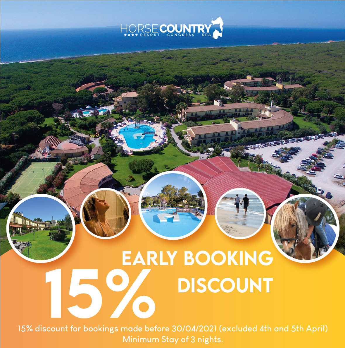 EARLY BOOKING 15% DISCOUNT
