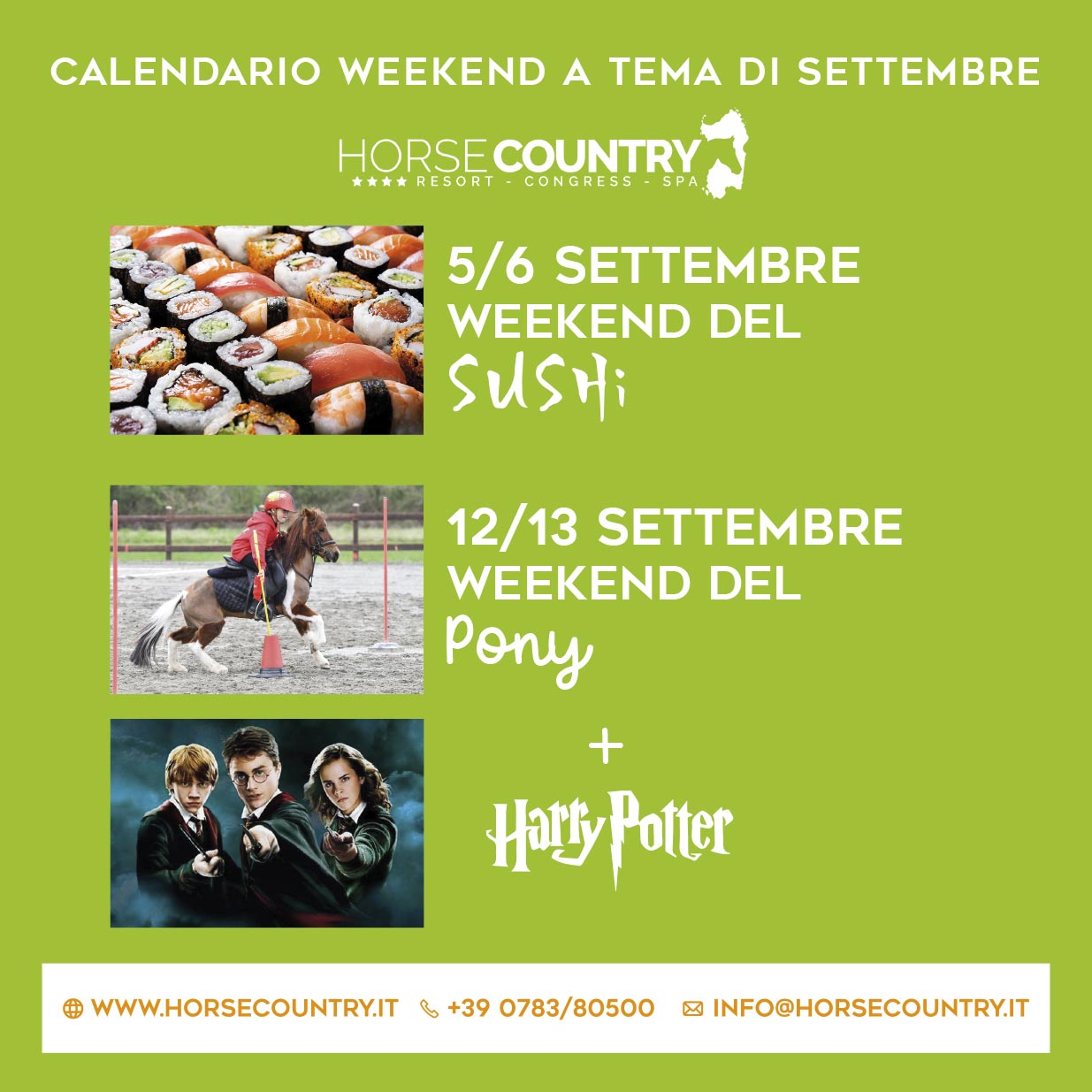 Offerta weekend tematici di Settembre byHorse Country Resort