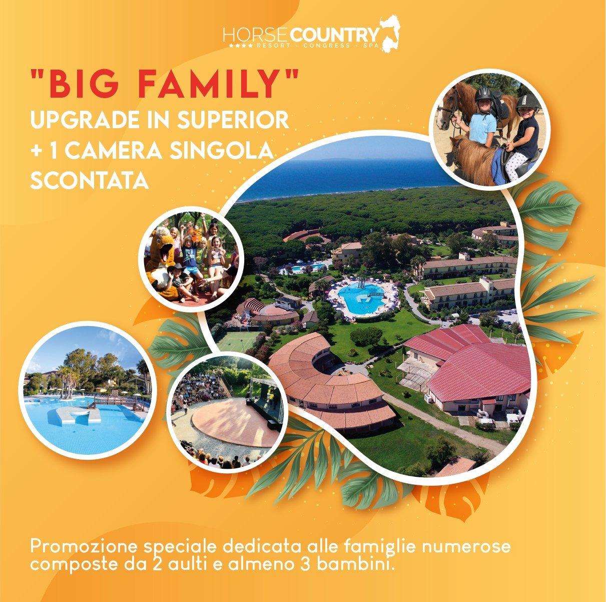 """BIG FAMILY"" UPGRADE IN SUPERIOR + 1 CAMERA SINGOLA SCONTATA"