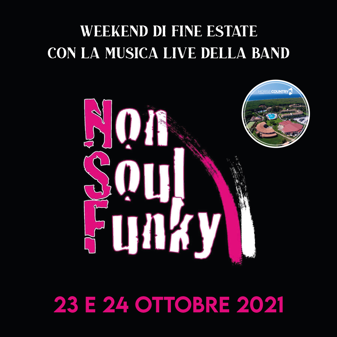 """Weekend di Fine estate con la musica della band """"Non Soul Funky"""""""
